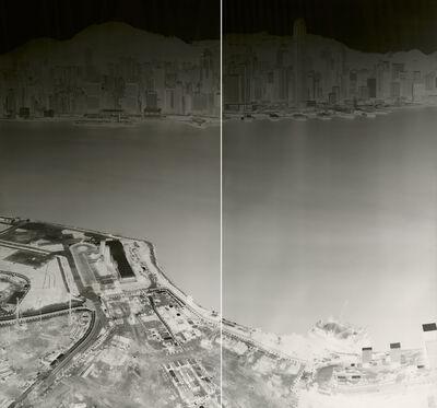 Shi Guorui 史国瑞, 'To See Hong Kong Island from Kowloon 18-21 July 2015 (diyptych)', 2015