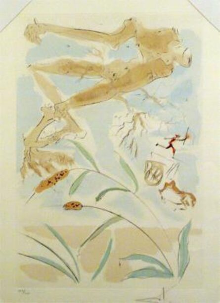 """Salvador Dalí, 'The Oak and the Reed - from the suite """"Le Bestiaire de la Fontaine""""', 1974"""