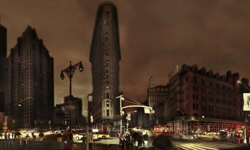 Jeff Chien-Hsing Liao, 'Flatiron, Halloween after Hurricane Sandy, New York', 2012