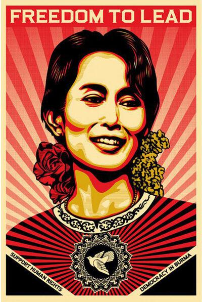 Shepard Fairey, 'Aung San Suu Kyi', 2009