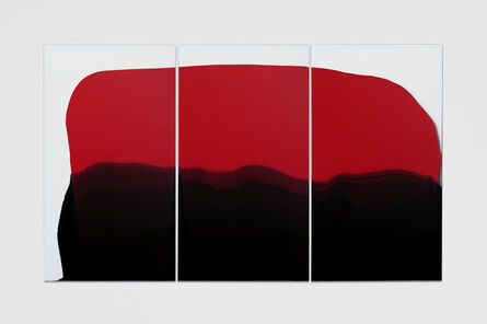 Mel O'Callaghan, 'En Masse (red and black triptych)', 2017