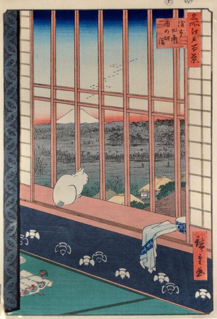 Utagawa Hiroshige (Andō Hiroshige), 'Asakusa Ricefield and Torinomachi', 1857