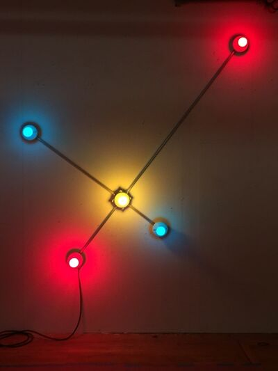 G.T. Pellizzi, 'Constellation in red, yellow and blue', 2016