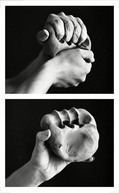 Mario Cresci, 'Mano, creta, impronta, dalla serie Misurazioni, Matera 1977 (Vintage Print - 1996)', 1996