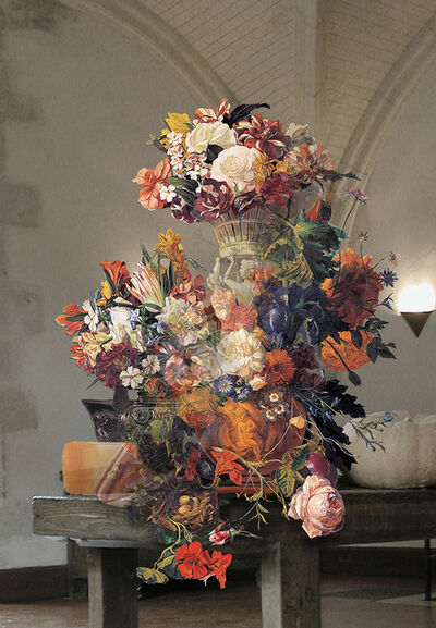 Bae Joon Sung, 'The Costume of painter- Still life with human image vase 060608 & Still life with flowers', 2013
