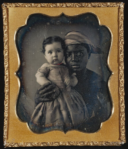 Unknown Artist, 'Portrait of a Nurse and a Child', ca. 1850