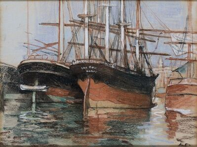 Jacobus van Looy, 'Boats in Marseille', 1886
