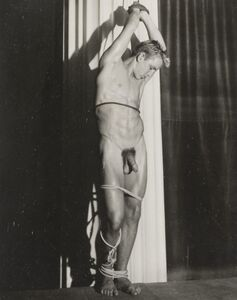 Bob Mizer, '[Nude posed as St. Sebastian]', circa 1950