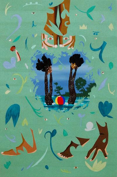 William Villalongo, 'Keeping Heads Above Water', 2015