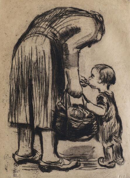 Käthe Kollwitz, 'Stehende mutter, ihr büblein fütternd and Ende (two works)', 1928