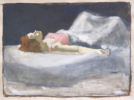 Norman Lundin, 'RED HAIRED GIRL IN PINK'