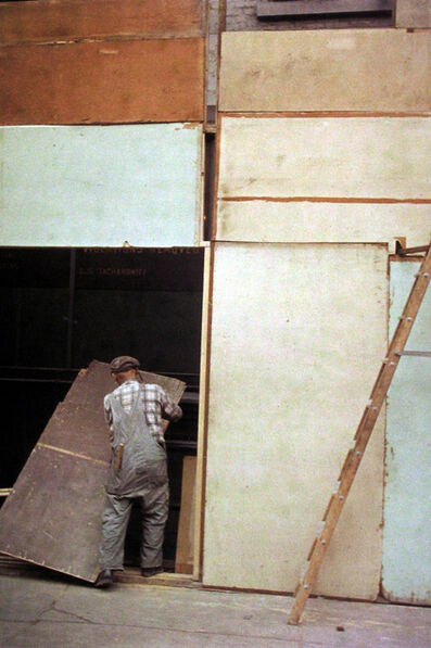 Saul Leiter, 'Mondrian Worker', ca. 1954