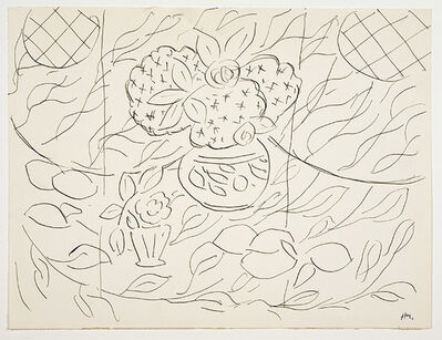 """Henri Matisse, 'Sketch for the painting """"Lemons and Mimosas on a Black Background""""', 1944"""