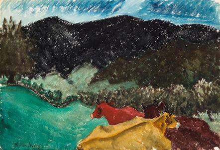 Milton Avery, 'Untitled (Cows Huddled)', ca. 1930