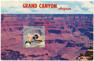 Mark Klett, 'Untitled, from a set of 20 altered postcards (Grand Canyon with hands holding camera)', 2010
