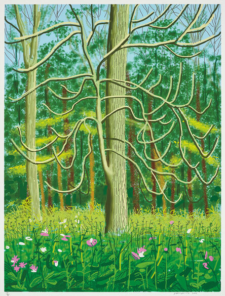 David Hockney, 'The Arrival of Spring in Woldgate, East Yorkshire in 2011- 4 May', 2011
