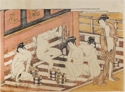Isoda Koryusai, 'In the Bathhouse', ca. 1770