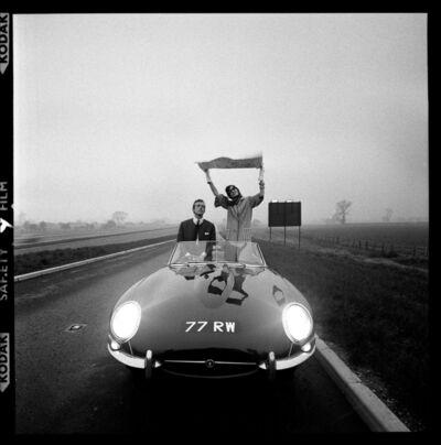Brian Duffy, 'E-Type Jaguar on Newly, Opened M1 Motorway', 1961
