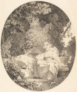 Nicolas Delaunay after Jean-Honoré Fragonard, 'La Bonne Mère', 1779
