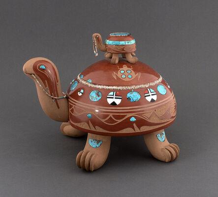 Tony Da, 'Sculpted Redware Turtle', 1975