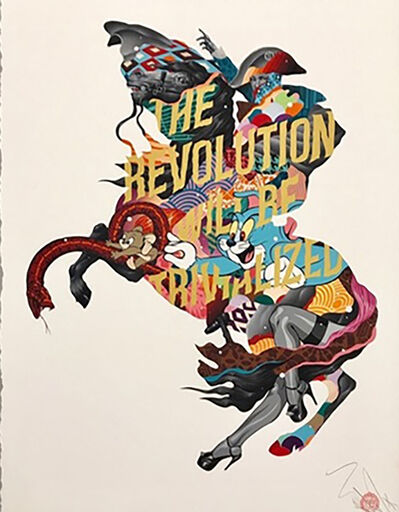 Tristan Eaton, 'THE REVOLUTION WILL  BE TRIVIALIZED (GOLD)', 2017