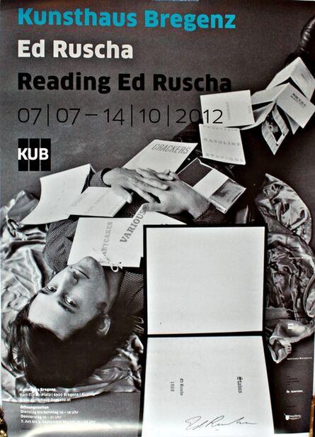 Ed Ruscha, 'Reading Ed Ruscha (Hand Signed)', 2012