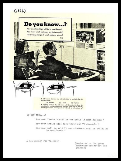 Nam June Paik, 'Do You Know...?, from the Collection of Ileana Sonnabend and the Estate of Nina Castelli ', 1973