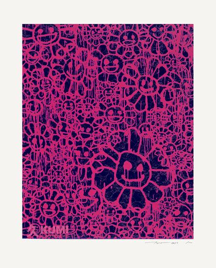 Takashi Murakami, 'Murakami x MADSAKI Flowers Pink Black B', 2017