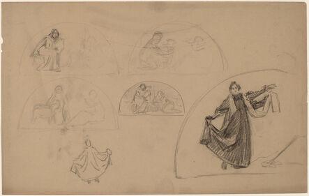 Charles Sprague Pearce, 'Studies for a Lunette', 1890/1897