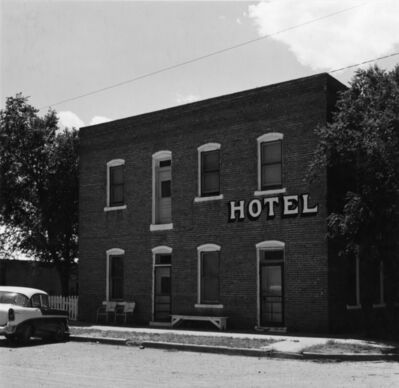 Robert Adams (b.1937), 'Prairie town hotel, Colorado', 1968