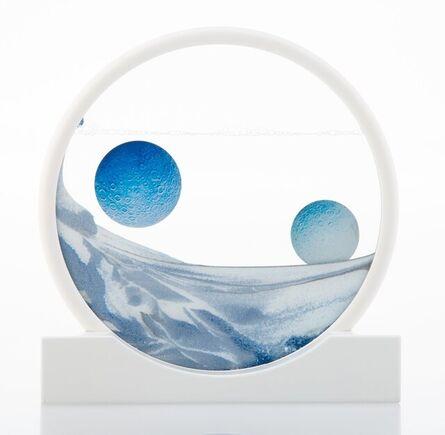 Daniel Arsham, 'Sand Circle (Blue)', 2019
