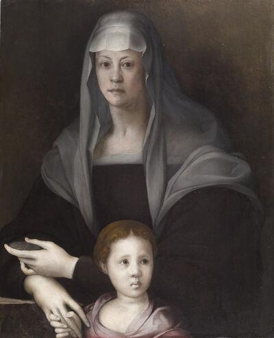 Jacopo da Pontormo, 'Portrait of Maria Salviati de' Medici with Giulia de' Medici', ca. 1537