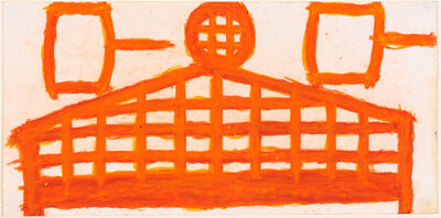 Evelyn Reyes, 'Fence (Orange with spools)', 2004