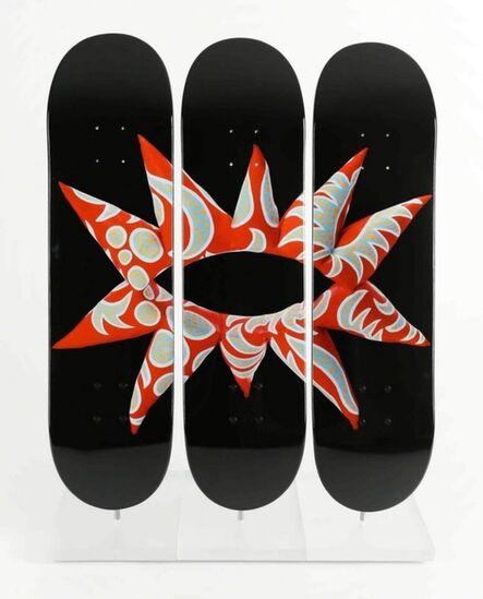 Yayoi Kusama, 'Suite of three (3) separate skate decks', 2014