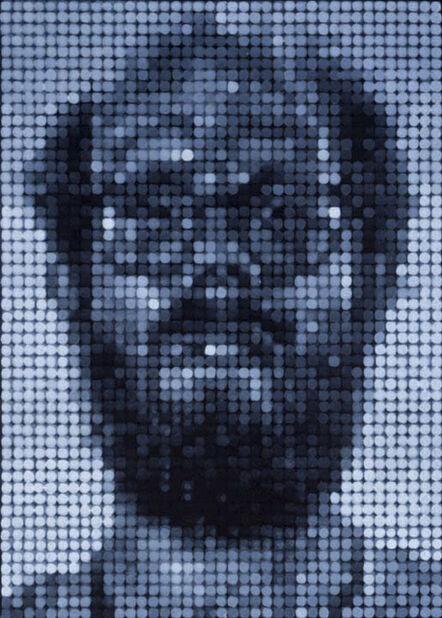 Chuck Close, 'Self Portrait/Spitbite/White on Black', 1997