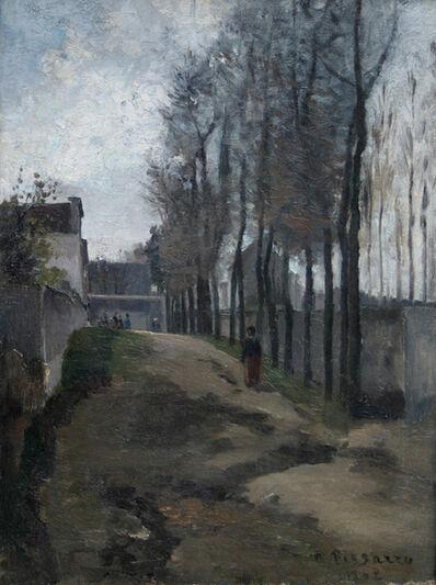 Camille Pissarro, 'Le Chemin, Paysage Hivernal', 1862