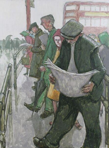 Norman Cornish, 'The bus queue ', ca. 1965