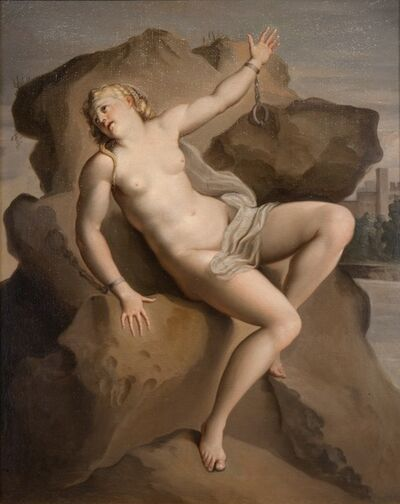 Italian School, 18th Century, 'Andromeda Chained to the Rock', ca. 1750