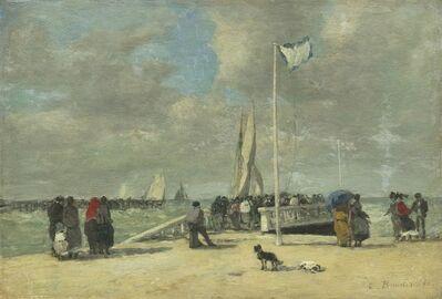 Eugène Boudin, 'On the Jetty', ca. 1869/1870