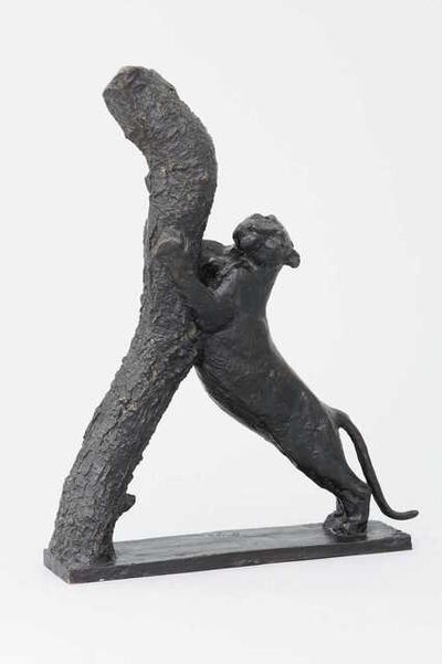 Georges-Lucien Guyot, 'Panther Playing its Claws', 1950