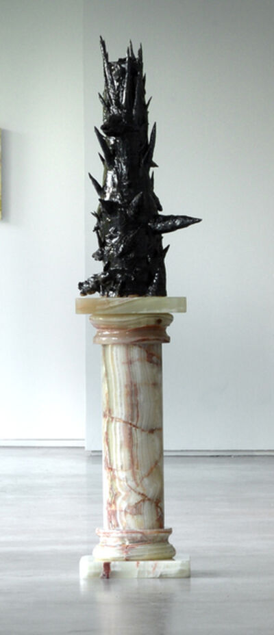 Allison Schulnik, 'Black Unicorn Vessel', 2017