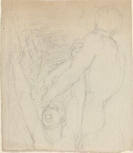 John Flaxman, 'Two Fighting Figures'