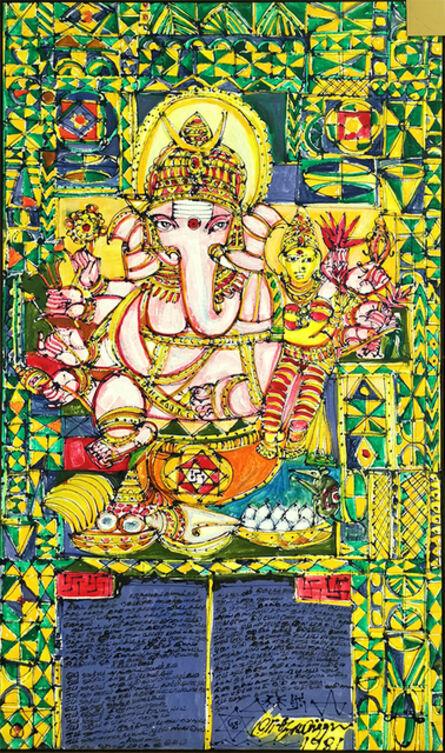 M Suriyamoorthy, 'Omnipresent Ganesha', 1981