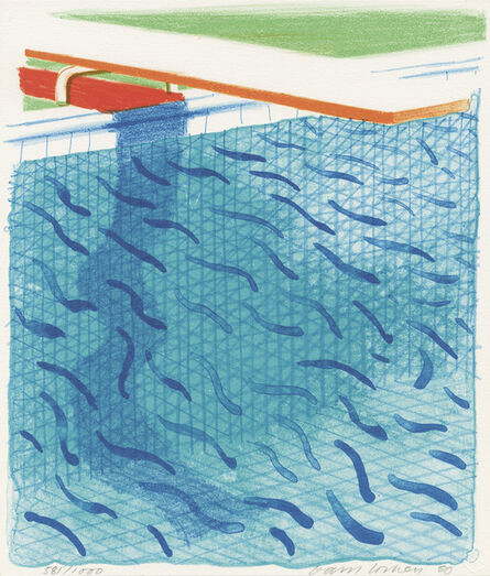 David Hockney, 'Paper Pools', 1980