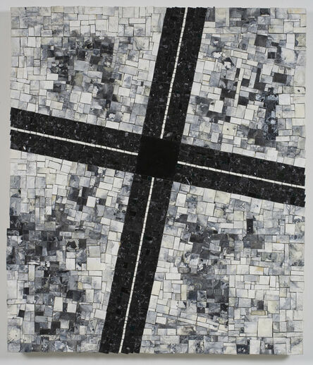 Jack Whitten, 'TC's Corner For My Uncle Thomas Cunningham 17 October 1920-27 January 1996', 1996