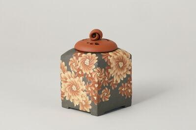 Ito Sekisui V, 'Mumyoi Neriage Square Incense Burner with Flower Patterns', 2016