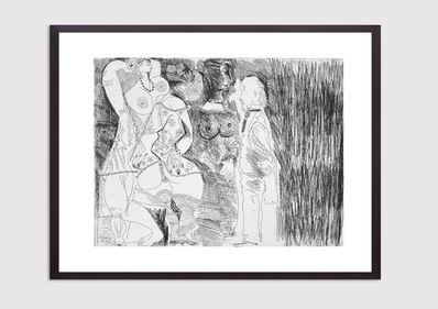 Pablo Picasso, 'Degas imaginant. Scène de séduction entre deux filles, avec matrone hypocrite', 1971