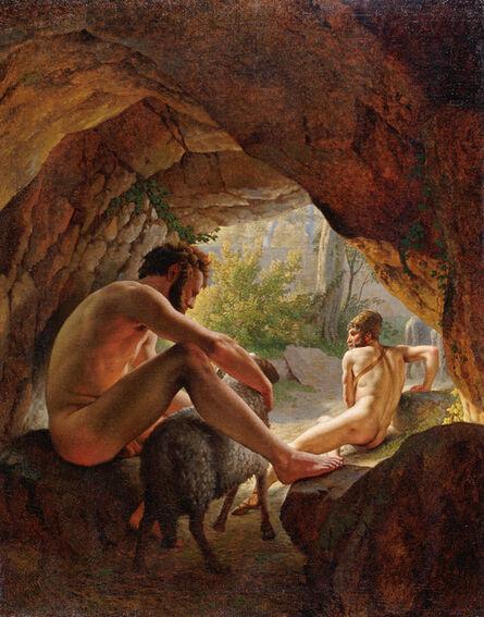 Christoffer Wilhelm Eckersberg, 'Ulysses fleeing the Cave of Polyphemus', 1812