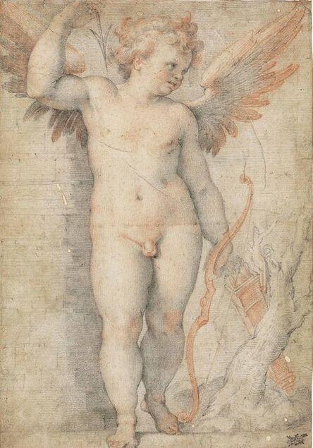 Attributed to Cristoforo Roncalli, il Pomarancio, 'Cupid with his bow and arrows'