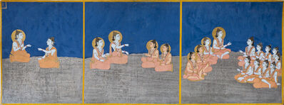 Bulaki, 'The transmission of teachings, page 3 from a manuscript of the Nath Charit (Stories of the Naths)', 1823